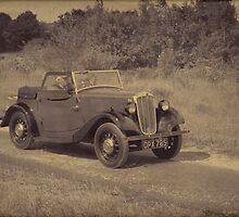 Morris Eight 2 Seater Tourer (Aged) by David J Knight