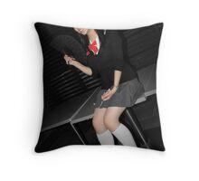 Jap Girl Throw Pillow