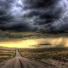 A backlit Nebraska storm by Mike Olbinski