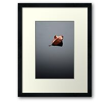 Where the dead leaf fell, there did it rest. Framed Print