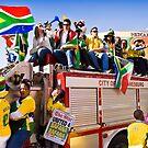 Soccer Fans Celebrating - United 4 Bafana by RatManDude