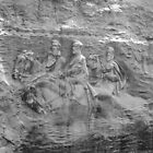 Stone Mountain 002 B&W by dawiz1753