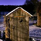 Outhouse in the Snow by Mark Van Scyoc