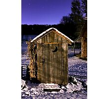 Outhouse in the Snow Photographic Print