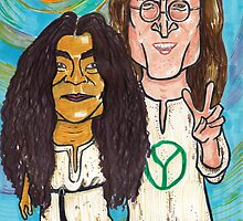 John and Yoko by andrea v