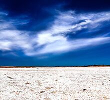 ...big sky salt pan... by Geoffrey Dunn