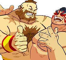 Zangief & E. Honda by manbot47