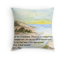 Affirmation to LOVE YOURSELF Throw Pillow