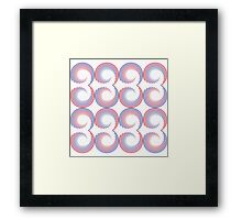 Abstract blue and red circles Framed Print