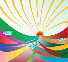 Abstract sunshine by Laschon Robert Paul