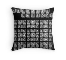 Alphabet buttons collection Throw Pillow