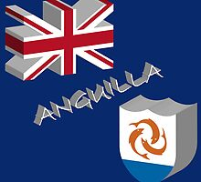 Anguilla 3d flag by Laschon Robert Paul