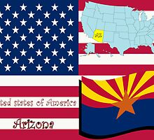 Arizona state illustration by Laschon Robert Paul