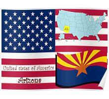 Arizona state illustration Poster