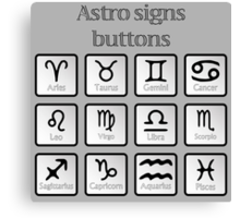 Astro sign buttons Canvas Print
