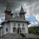 Orthodoxy Church in mountains, Romania, Targoviste region by Antanas