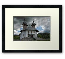 Orthodoxy Church in mountains, Romania, Targoviste region Framed Print