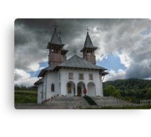Orthodoxy Church in mountains, Romania, Targoviste region Canvas Print