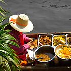 Thai Floating Market Trader by Tim Topping