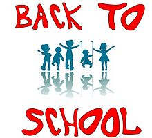 back to school kids by Laschon Robert Paul