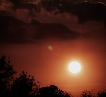 Sunset over Atcham by Matt Sillence