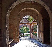 Rothenburg  - Burgtor Archways by David J Dionne
