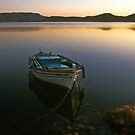 Fishing boat--Elounda Crete greece by milton ginos