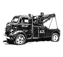 Antique Tow Truck Photographic Print