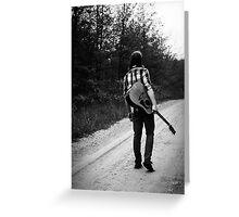 Lone Gunman Greeting Card