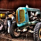 Tractor in an old barn HDR by calgecko