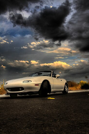 Mazda Miata, waiting for the storm (HDR) by calgecko