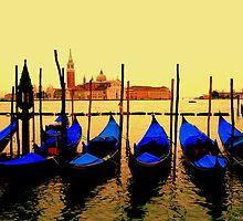 Gondolas, Venice by rashichaturvedi