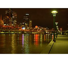 Melbourne at night Photographic Print