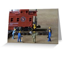Kalli, the owner of the train was a fitness guru. The track workers agreed she had a great caboose Greeting Card