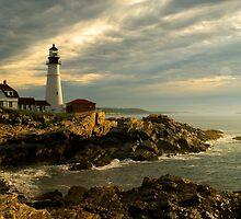 Sunrise at Portland Head Lighthouse by Alana Ranney