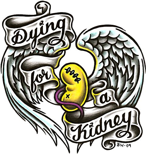 Dying for a kidney by Karol Franks