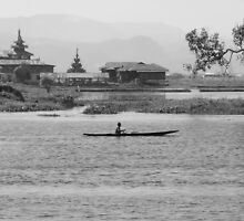 Inle Lake at noon by Brian Bo Mei