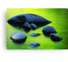 River Rocks Canvas Print