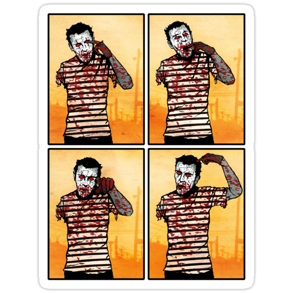 The Zombie Mime! by matthewdunnart