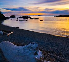 Rosario Beach Sunset by RavenFalls