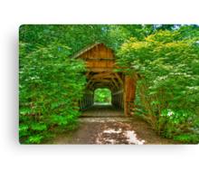 Covered Footbridge Canvas Print