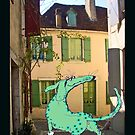 """""""Lost Green dog in France"""" by Mary Taylor"""
