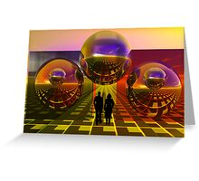 Outside the box Greeting Card