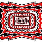 Red & Black Mirror Art by KazM