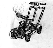 Steampunk Lawnmower by klokked