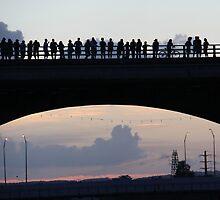 Congress Avenue bat bridge Austin TX by Alice Kahn
