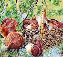 Mushrooms by Valentina Gatewood