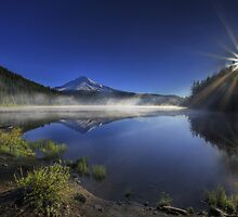 Sunrise at Trillium Lake 5 by davidgnsx1