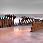 Shipwreck - Dickie Beach - QLD - Australia by Frank Moroni