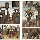 nubian wrestlers by David  Kennett
